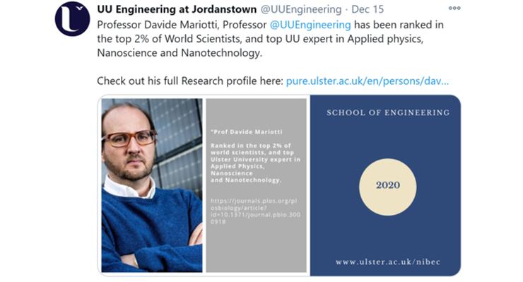 School of Engineering Twitter